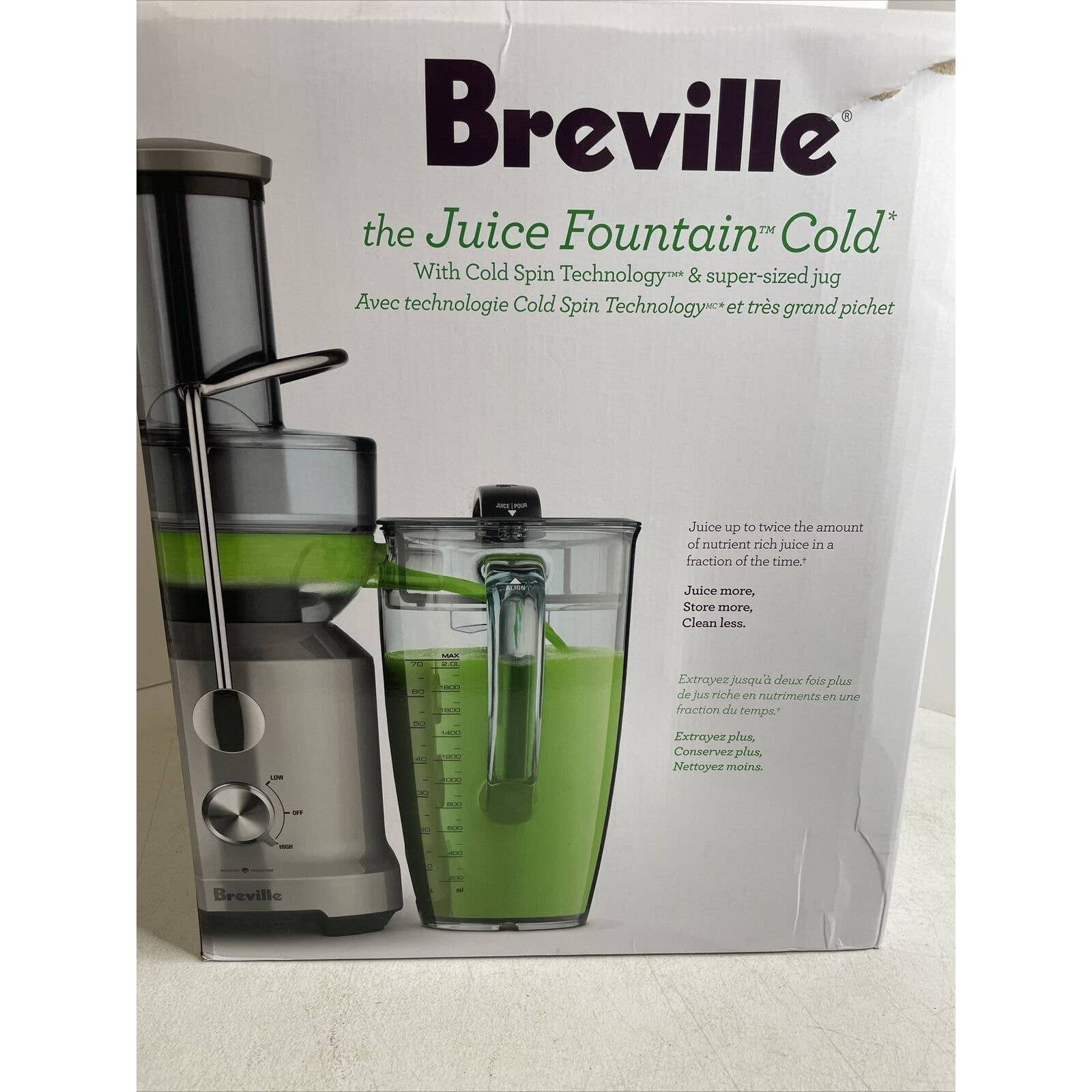 Breville BJE430SIL Juice Fountain Cold