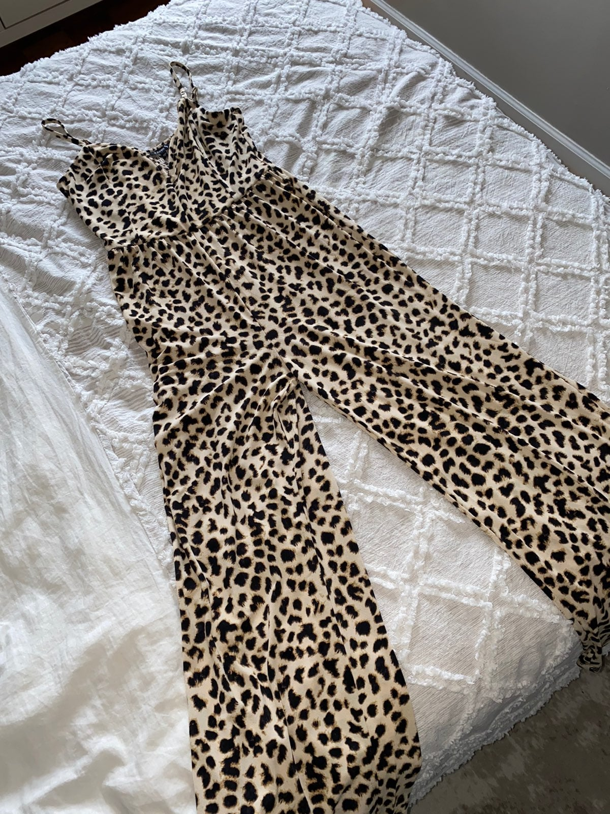 Express leopard jumpsuit