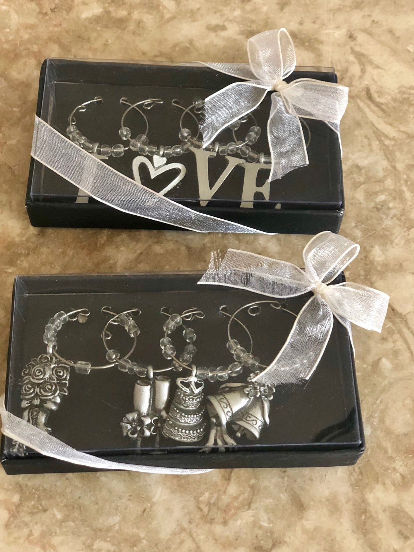Wedding Love Inspired Wine Charms