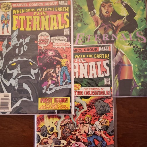 Eternals #1 &#2 and #1 Comic trio