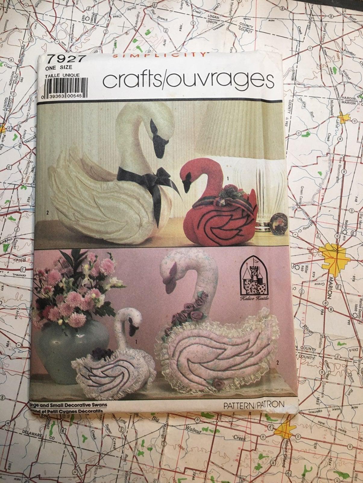 Vintage Swan Sewing Pattern