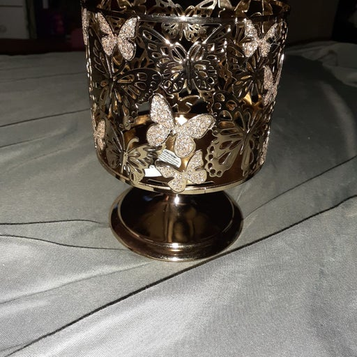 Butterfly Gold Candle Holder