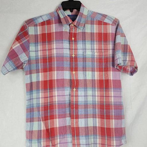 Pendleton Mens Size Med Short Sleeve Pla