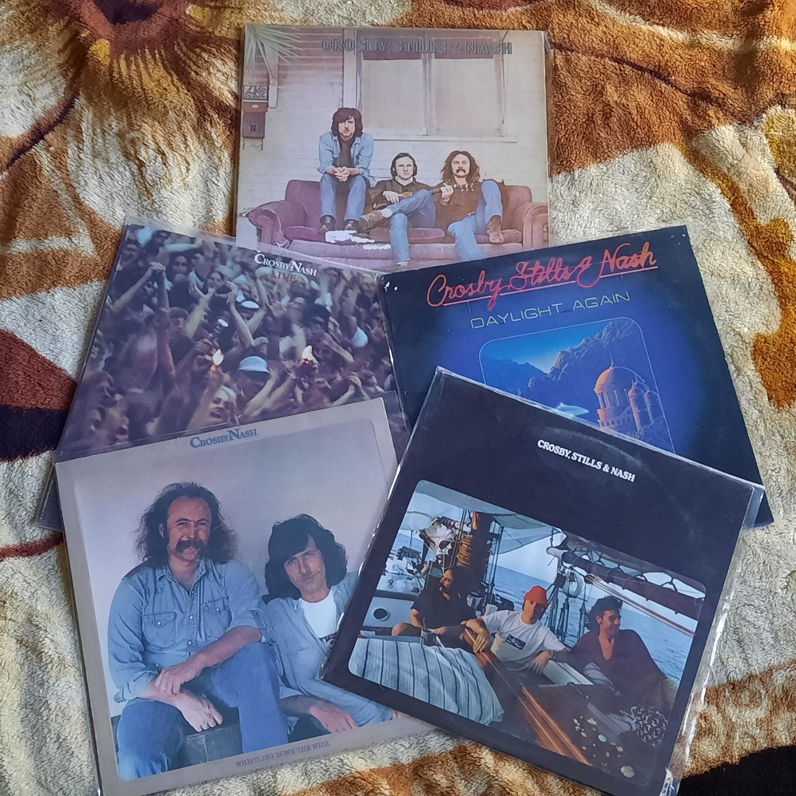 Crosby, Stills & Nash 5 Vinyl LP lot