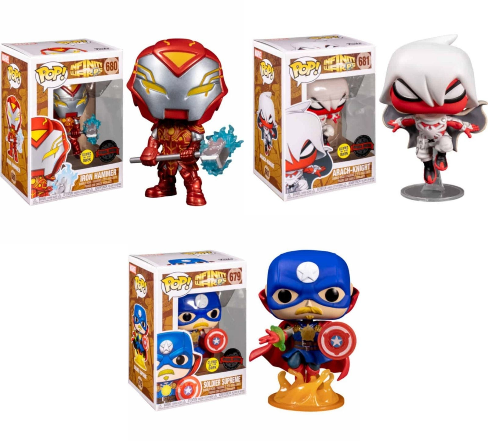 Funko POP Lot of 3 Marvel Infinity Warps