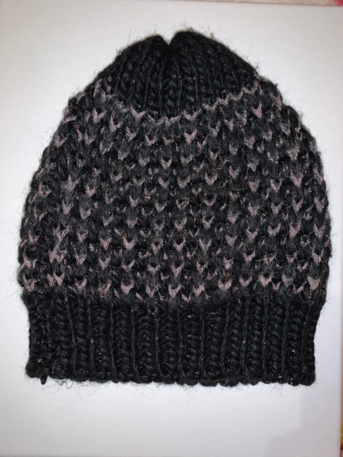 Beanie Knit Slouchy Fur Lined