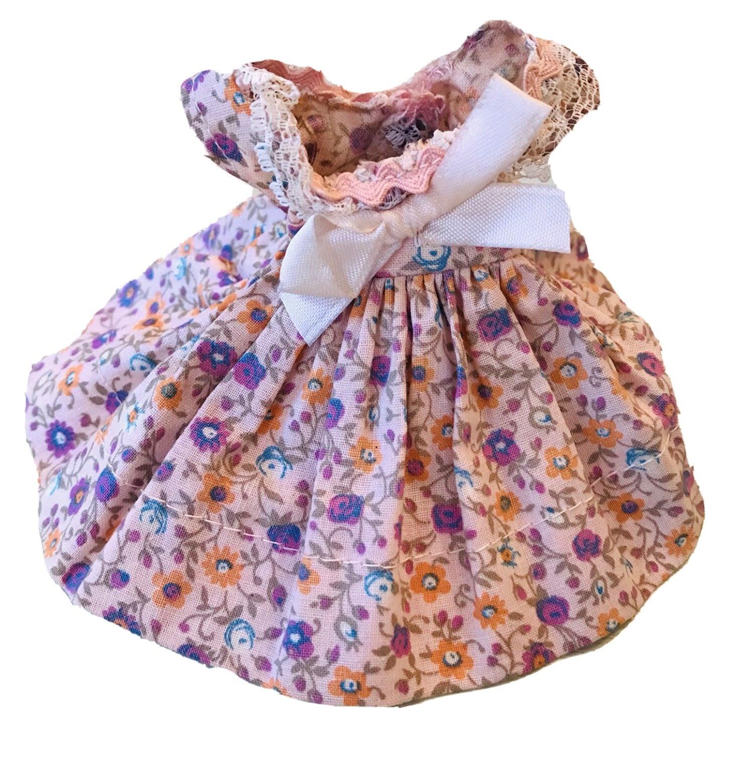 Vintage Doll Dress 8 inch Ginny 1950s