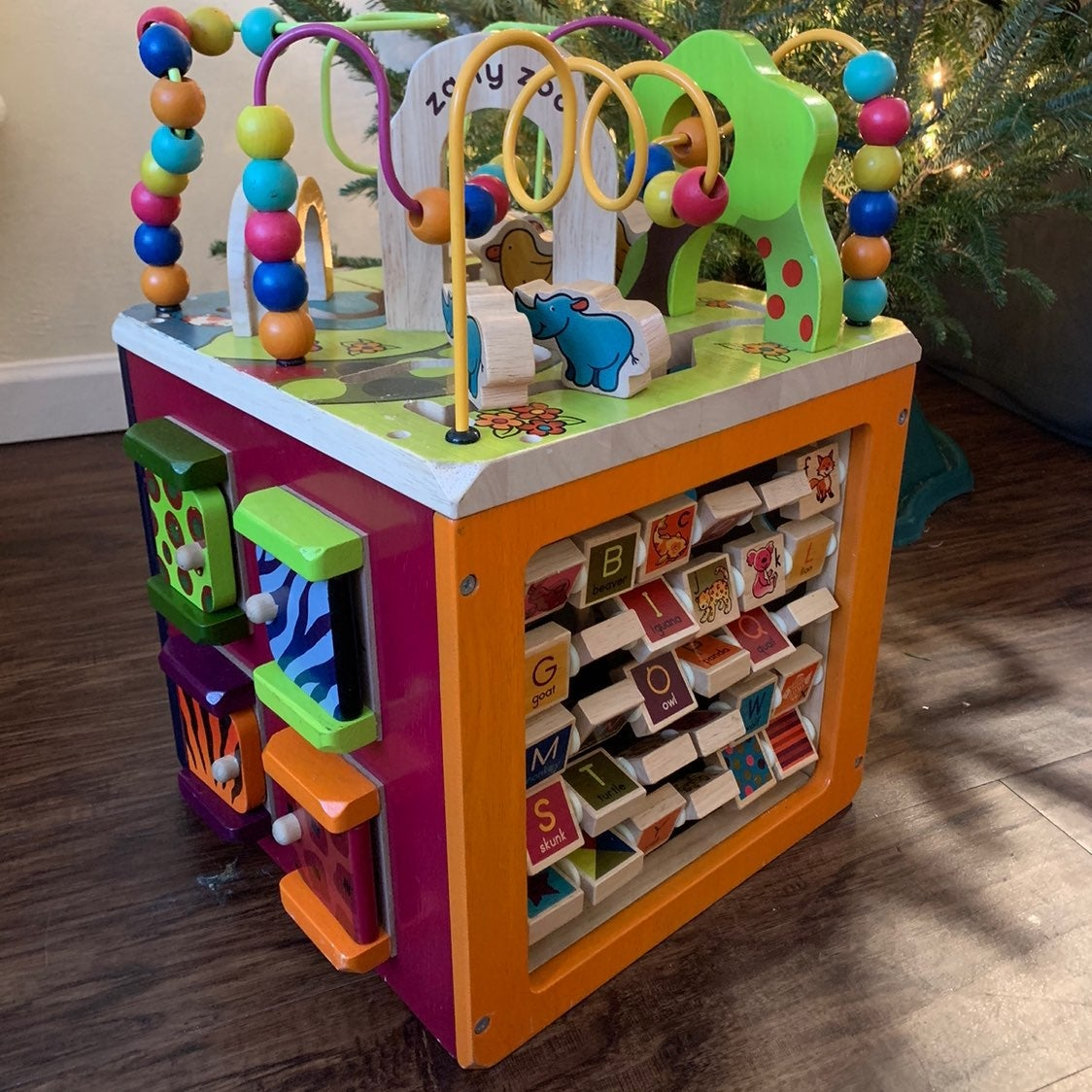 Zany Zoo Toddler Activity Cube