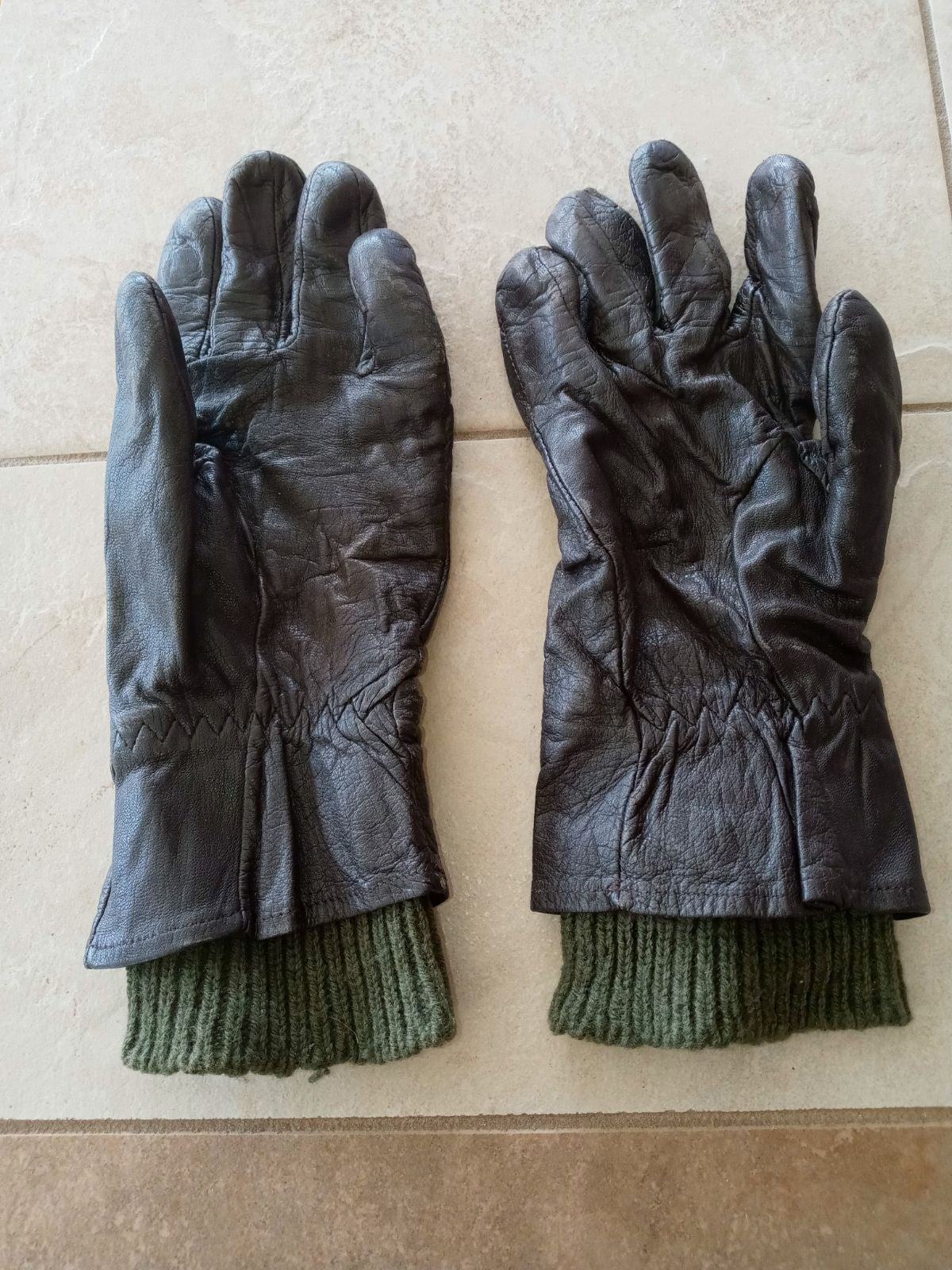 Leather pilots Gloves