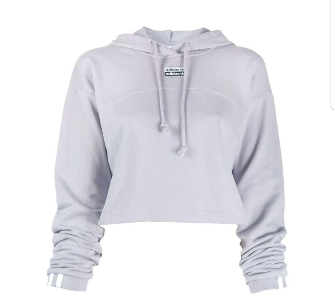 Adidas R.Y.V. Cropped Hoodie Glory Grey