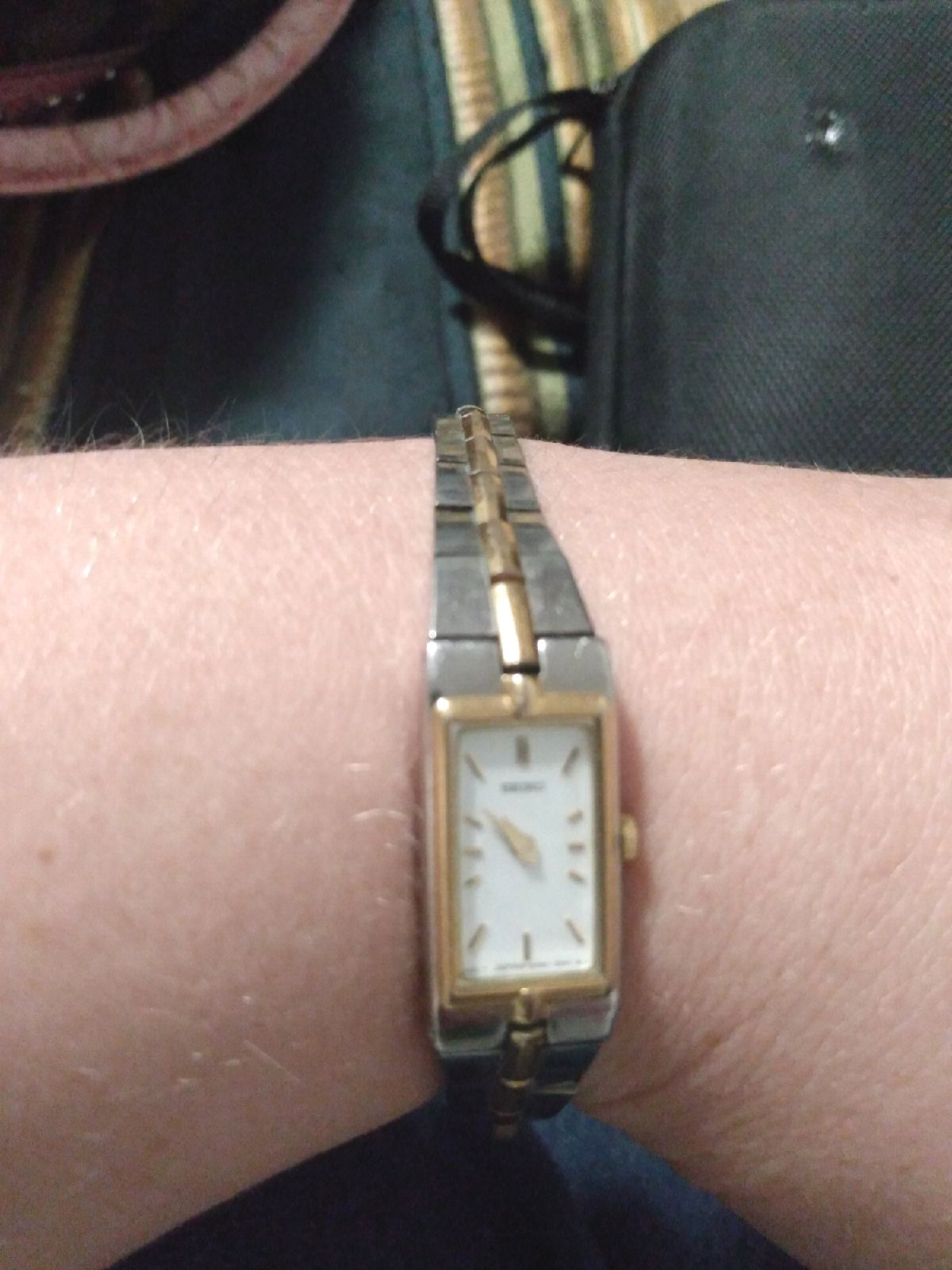 seiko silver and gold woman's watch
