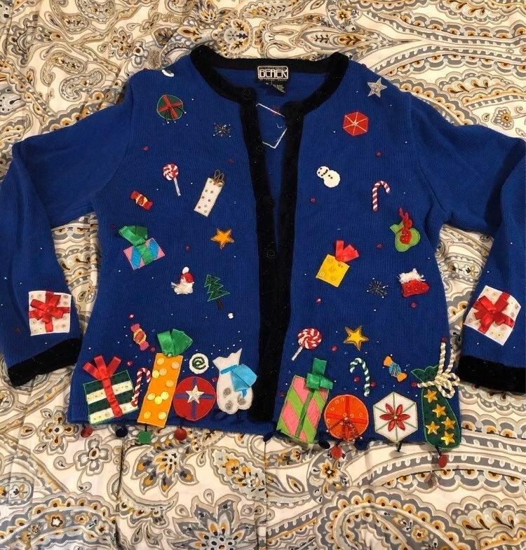Berek Medium Christmas Sweater Cardigan