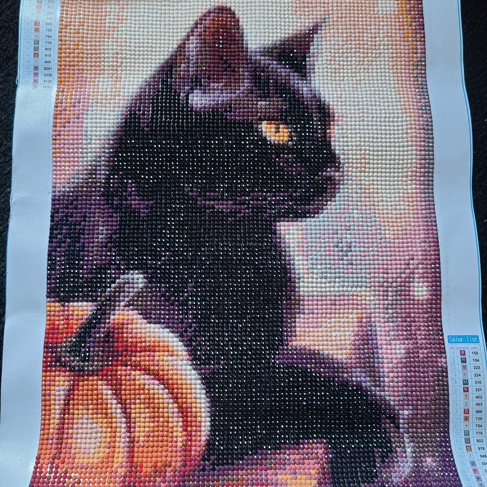 Black Cat diamond art painting