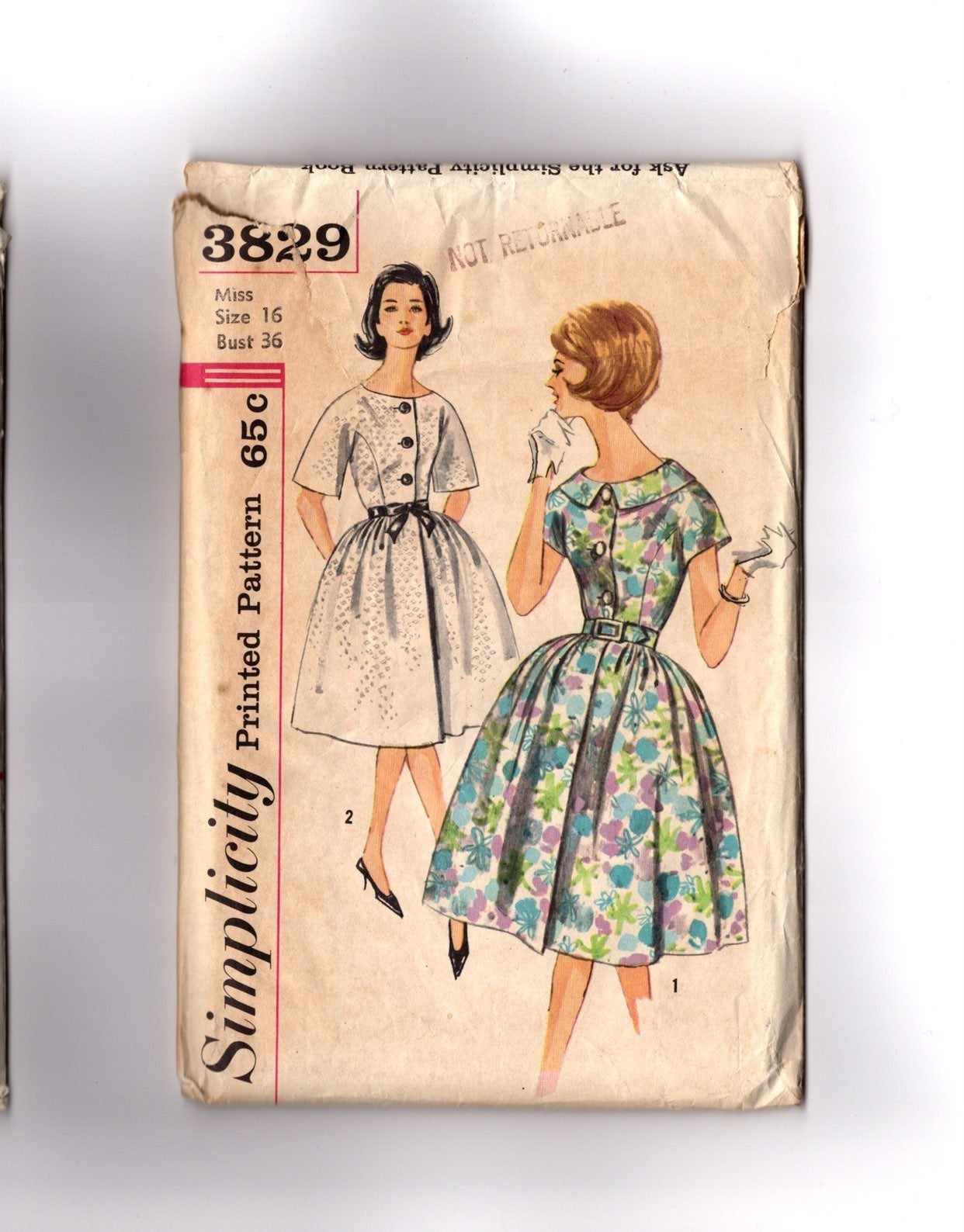 Vintage Pattern 1960s House Dress