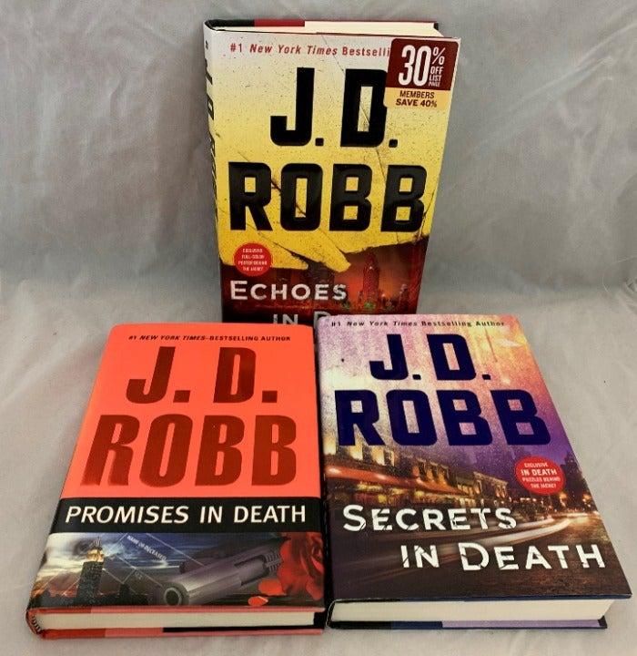 Three JD Robb Hardback Books