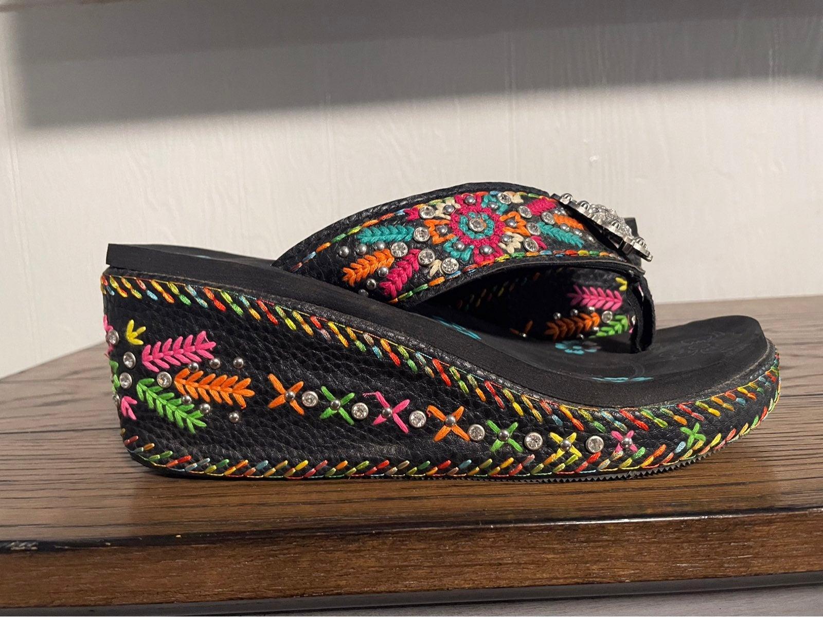 Montana West wedge sandal 10