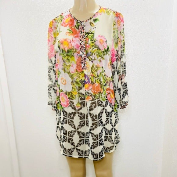 Soft Surroundings floral tunic top