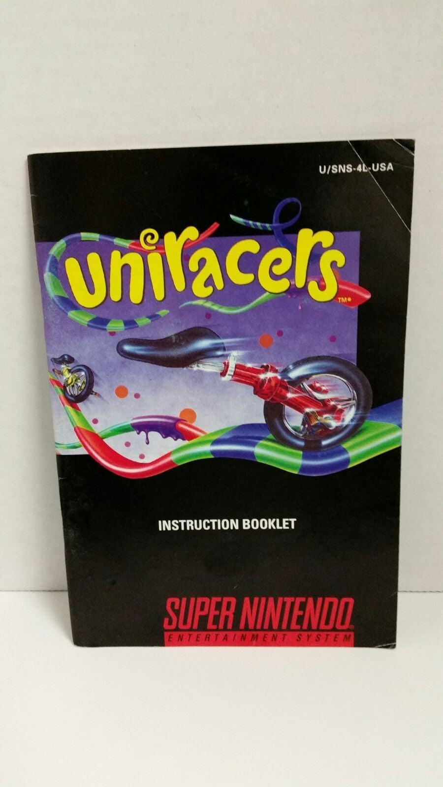 Uniracers Instruction Manual