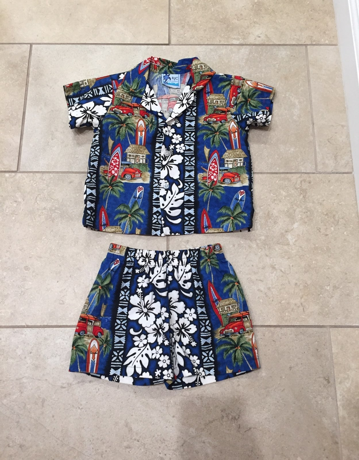 Hawaiian Shirt & Short Set Size Boys 2T