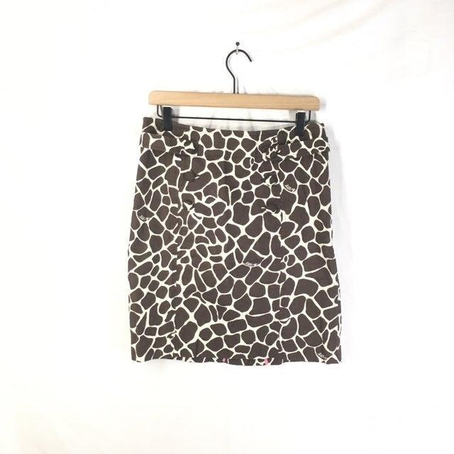Lilly Pulitzer Giraffe Print Skirt