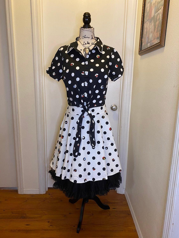 Disney Mickey Mouse Polkadot Top & Skirt