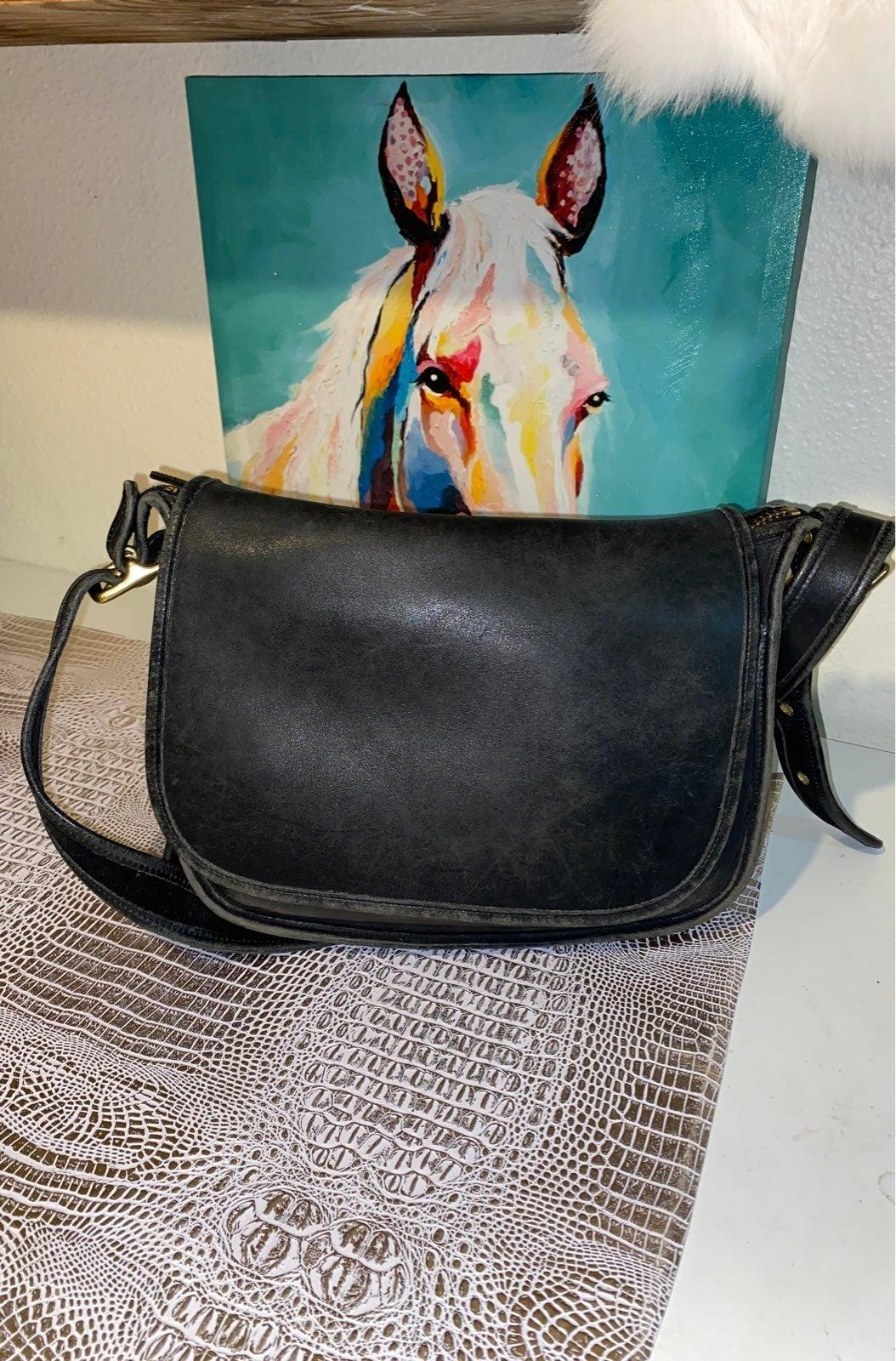 Coach english saddle bag vintage