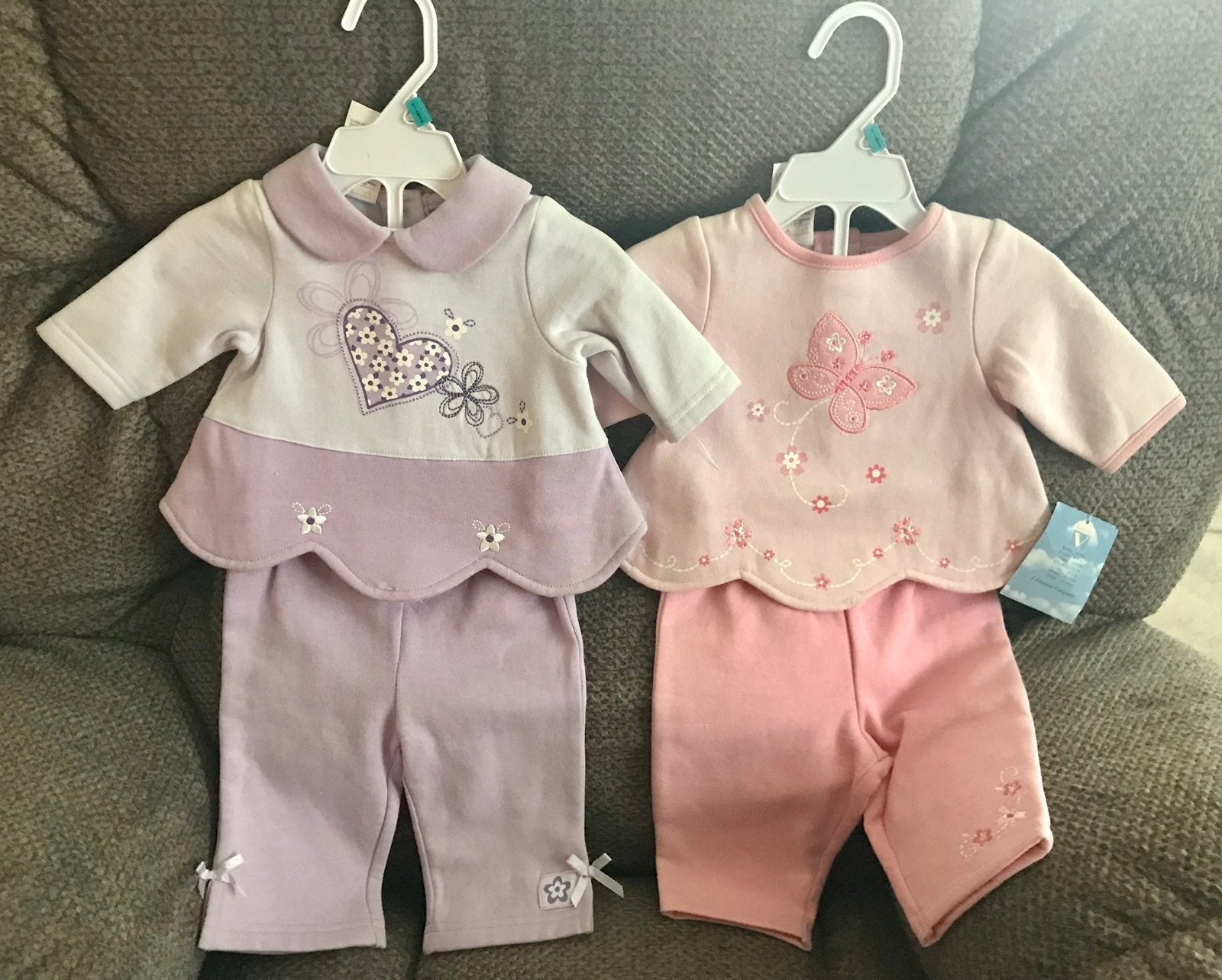 NWT 2 Infant Girls 0-3 Months Outfits