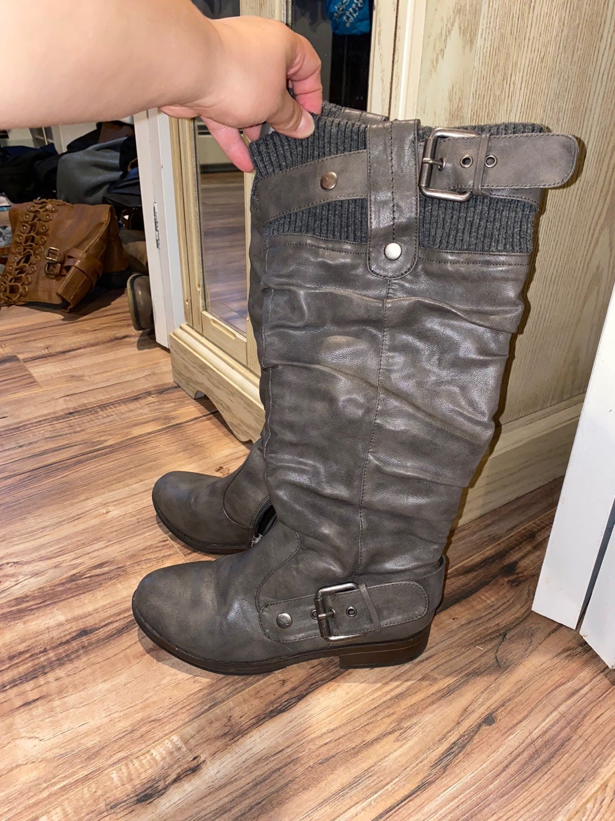 Womens Bamboo gray boots