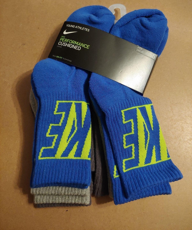 Kids Nike & UA crew Sock bundle