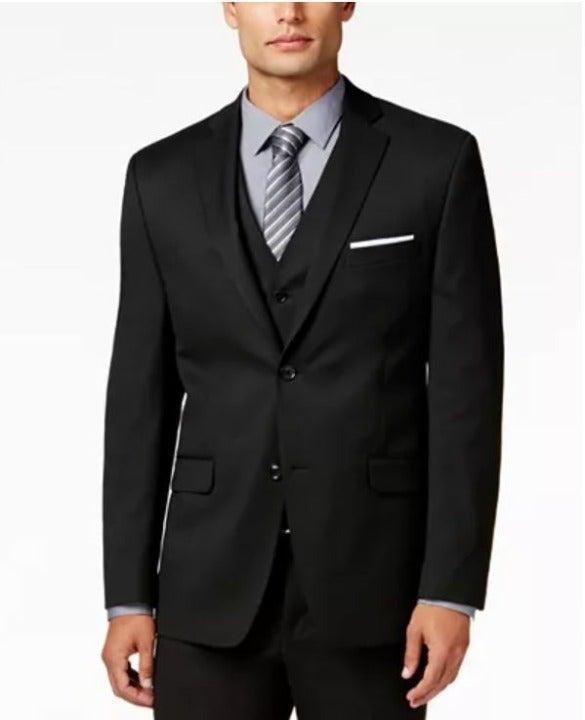 Classic black wool suit coat blazer