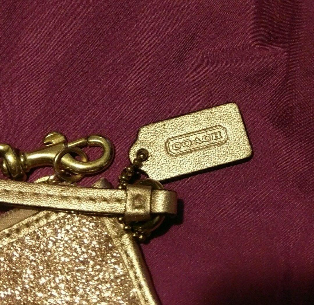 Gold Glitter Coach Wristlet
