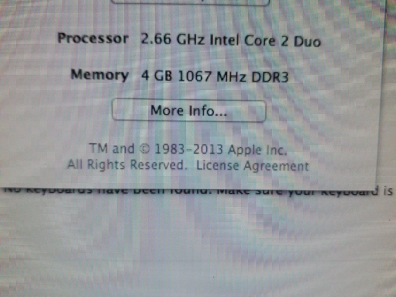 Apple imac a1224 2.66 4g 320G Superdrive