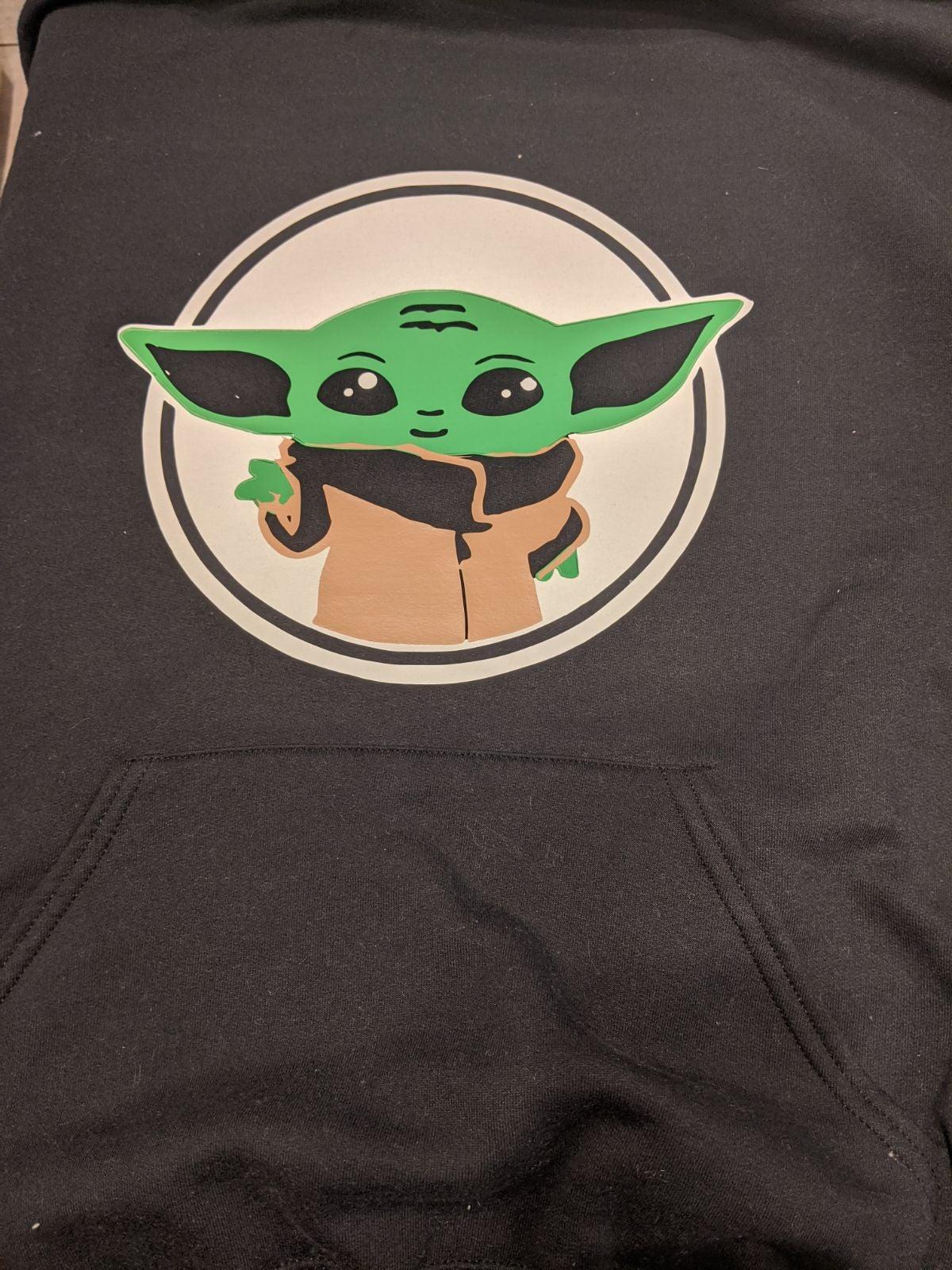 Black baby Yoda hoodie