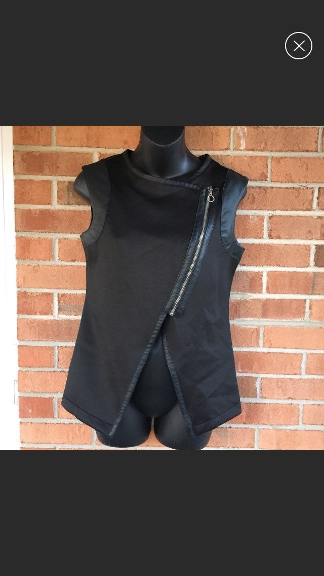 Mossimo Faux Leather Vest