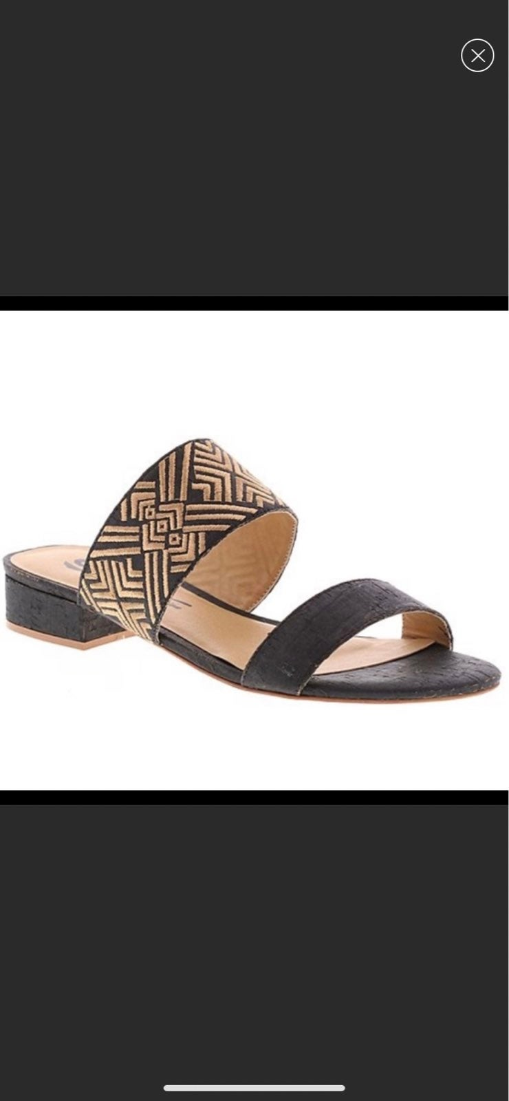 NIB-Sbicca Black Kimiko Sandal