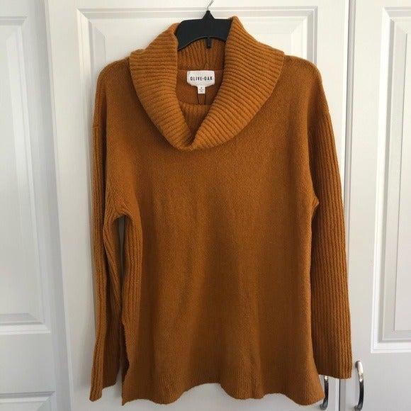 NWT Olive & Oak Mustard Cowl Sweater