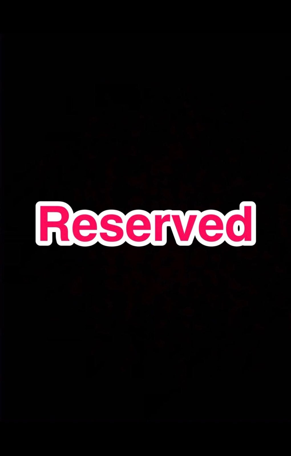 reserved lot