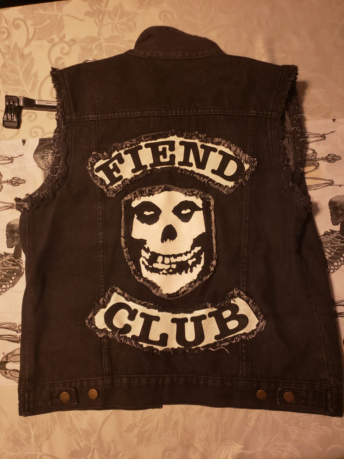 Misfits 'Fiend Club' denim jacket/vest