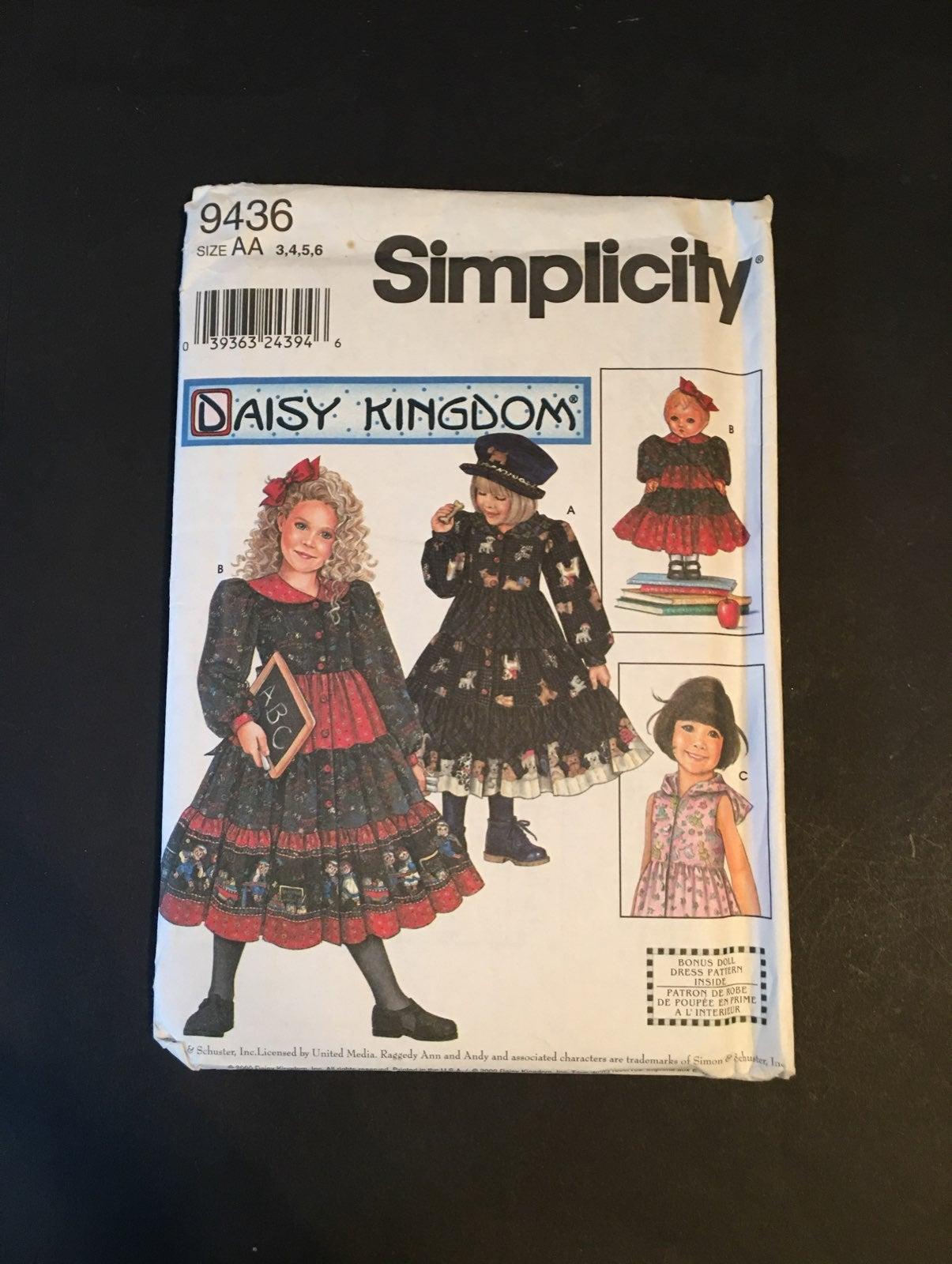 Daisy Kingdom Dress Pattern