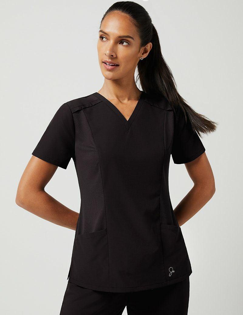jaanuu scrub tops size large black qty 3