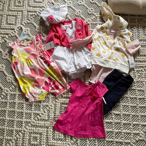 Bundle lot of baby girl 3-6 clothes NWT