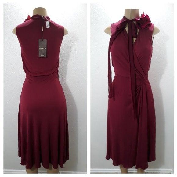 GUCCI faux wrap dress