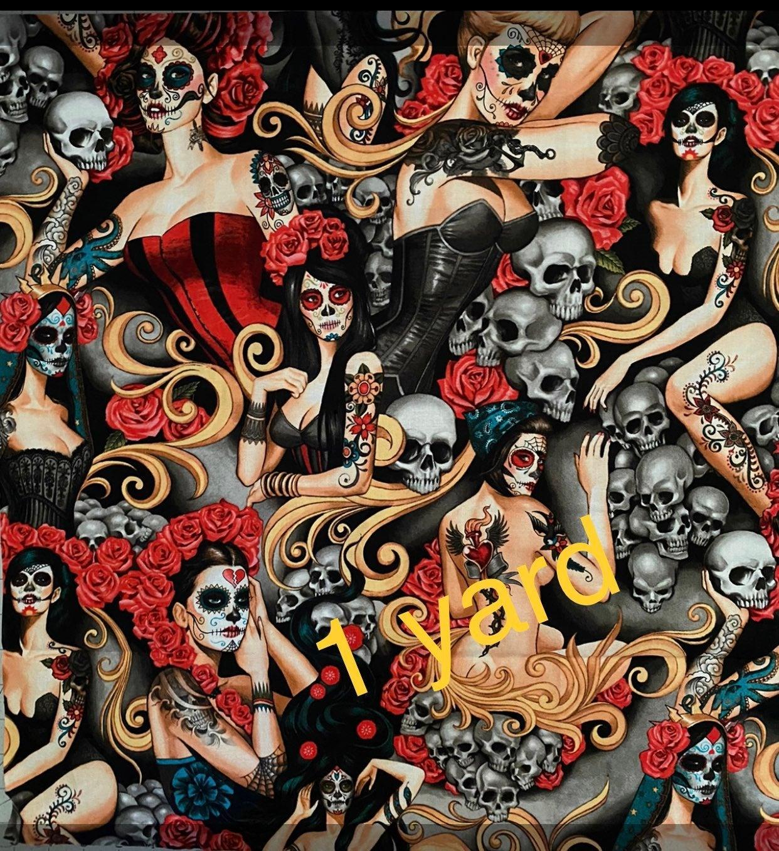fabric by the yard Las Elegantes