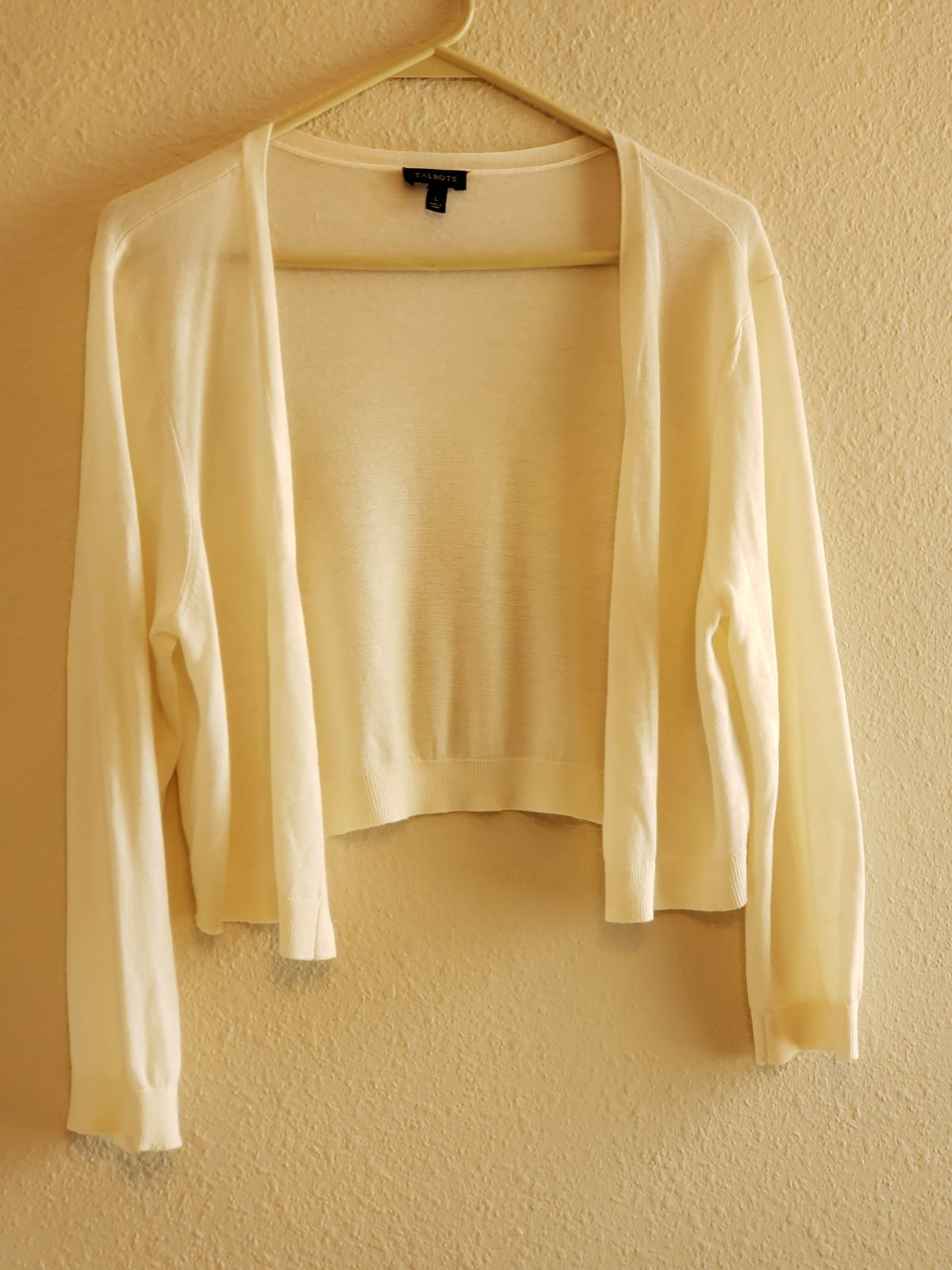 Talbots White Shrug. Women's Large