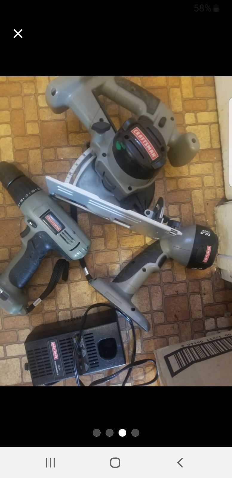 7 piece Craftsman tool sets as listed