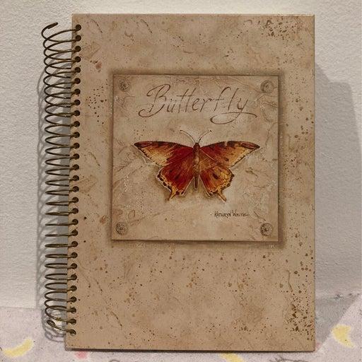 Butterfly Spiral Lined Jumbo Journal