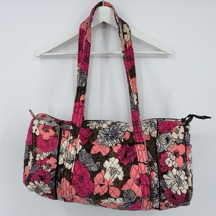 Vera Bradley Duffle Bag Mocha Rouge Fall