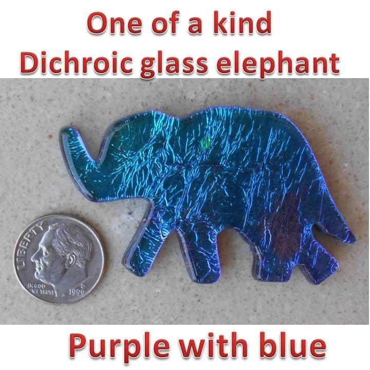 ELEPHANT! handmade dichoric fused glass