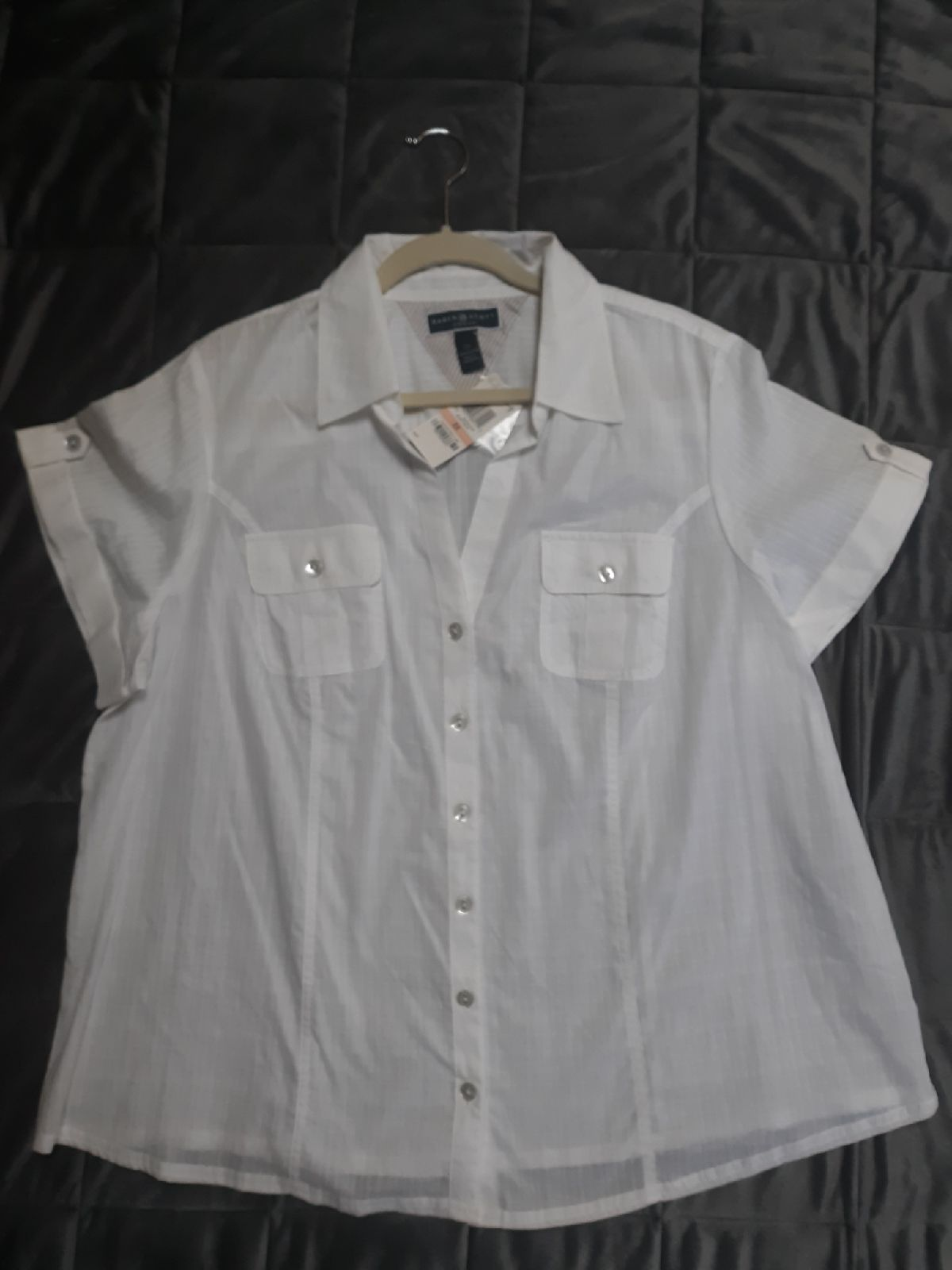 NWT womens blouse Karen Scott size 2X wh
