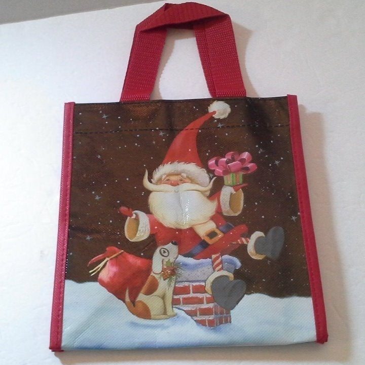 Santa Claus Chimney Small Lunch Tote Bag